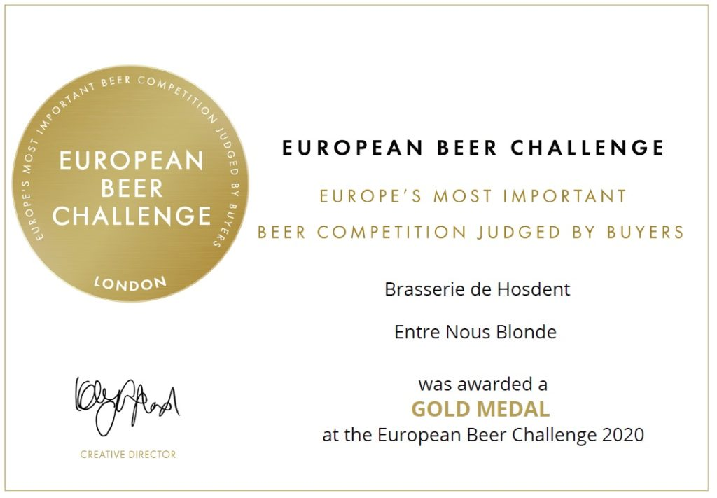 Médaille d'or European Beer Challenge 2020